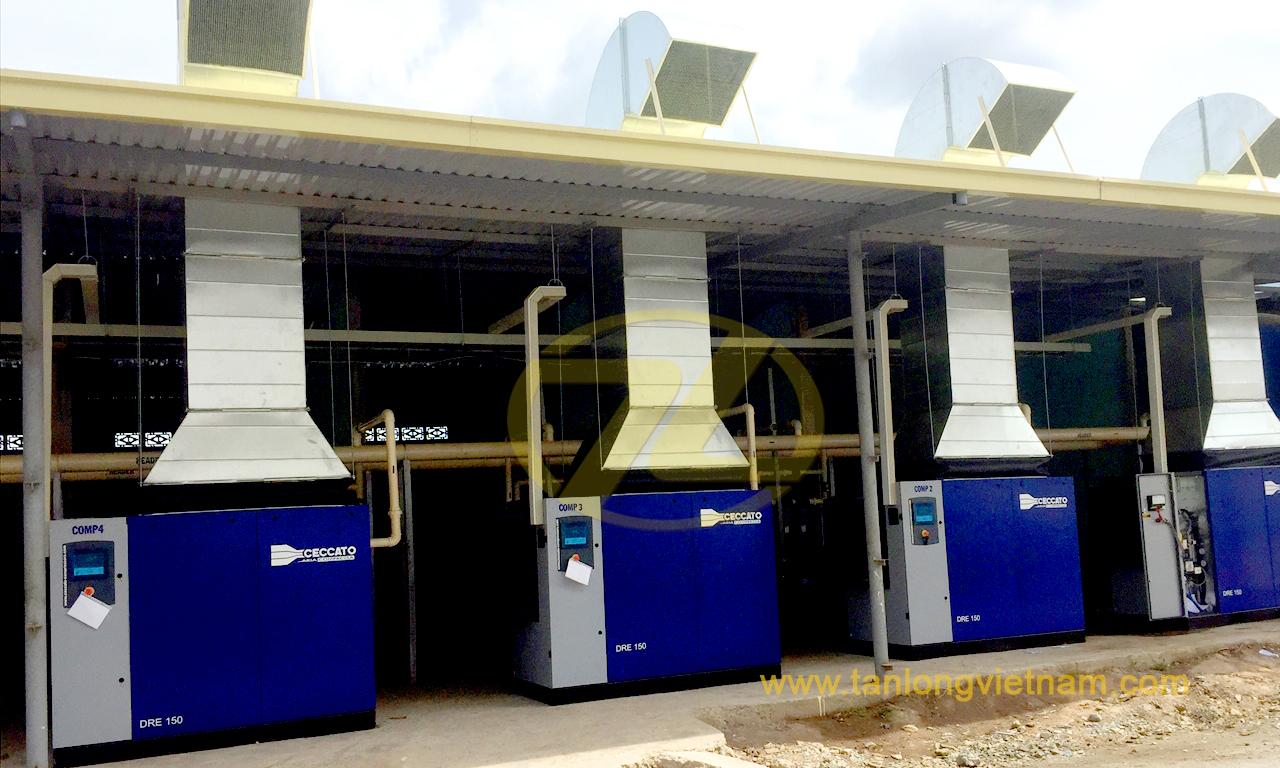 Dự án máy nén khí Atlas Copco Ceccato Tân Long - air compressor - tanlongvietnam